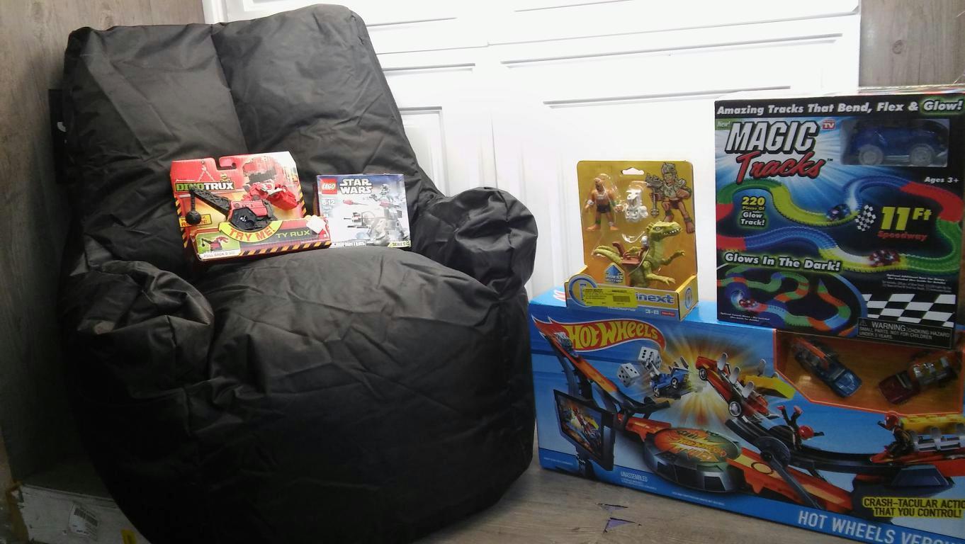 Kids Bean Bag Chair Hot Wheels Versus Magic Tracks Lego
