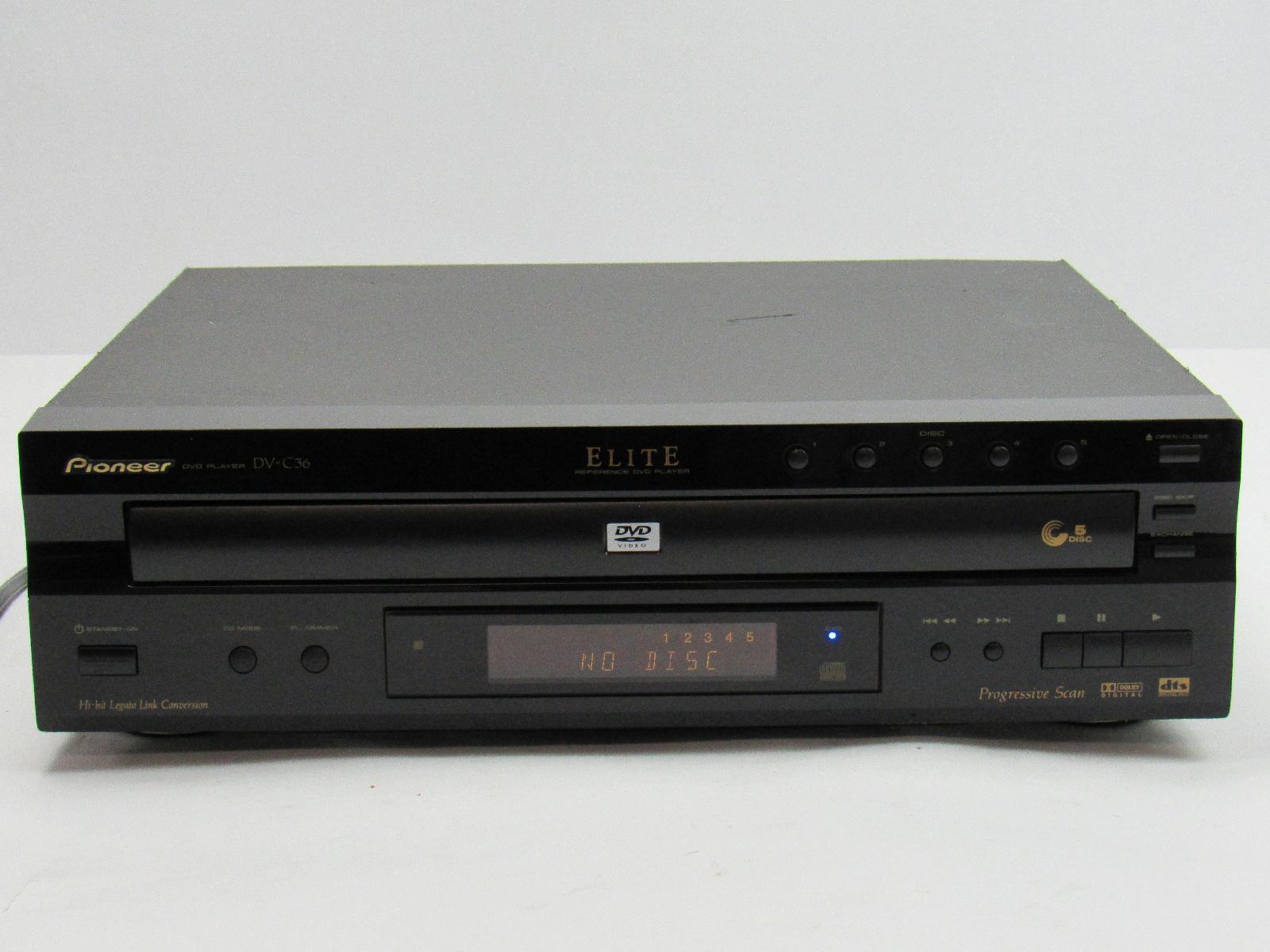 pioneer dv c36 elite reference audiophile 5 disc dvd cd