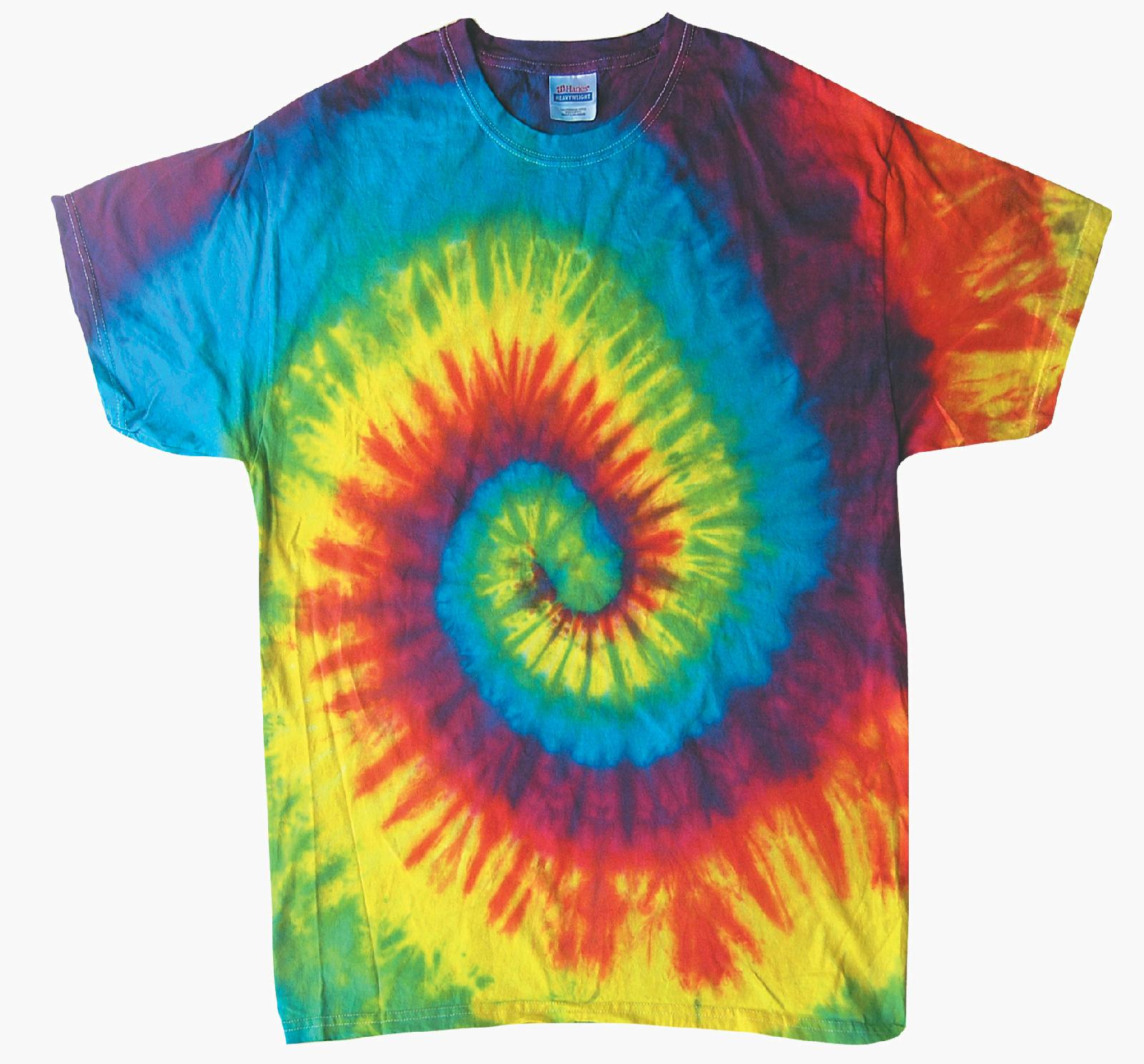 da667d5d660 Adult Tie Dye Short Sleeve T Shirt New Reactive Rainbow Multi Color Spiral  Small