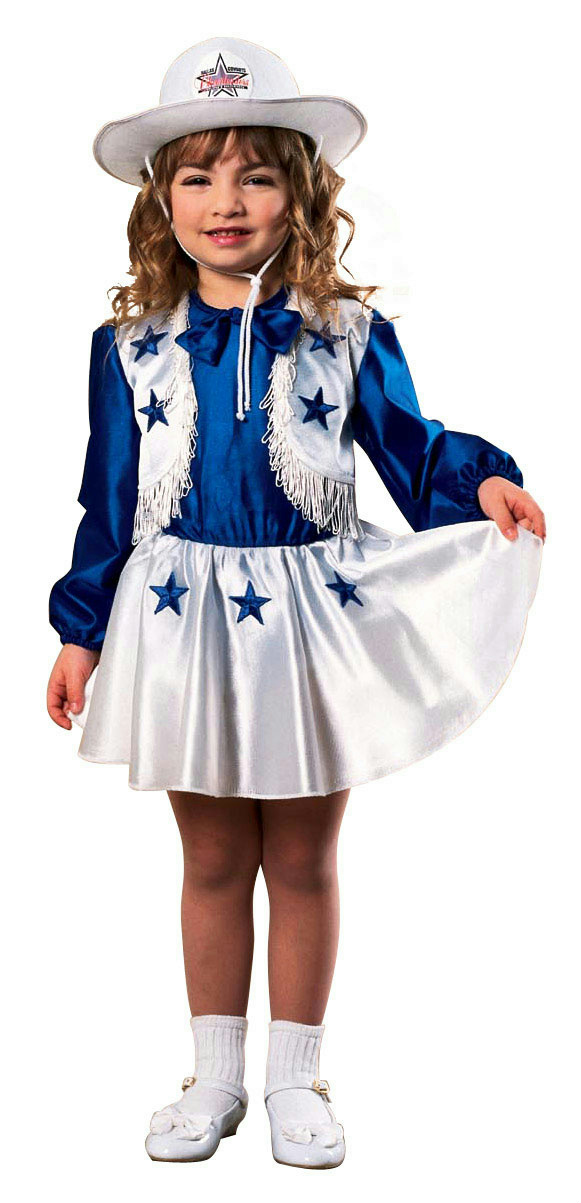 Dallas Cowboys Cheerleader Girl s Costume Size Toddler 1-2 Years  237aa0dfc