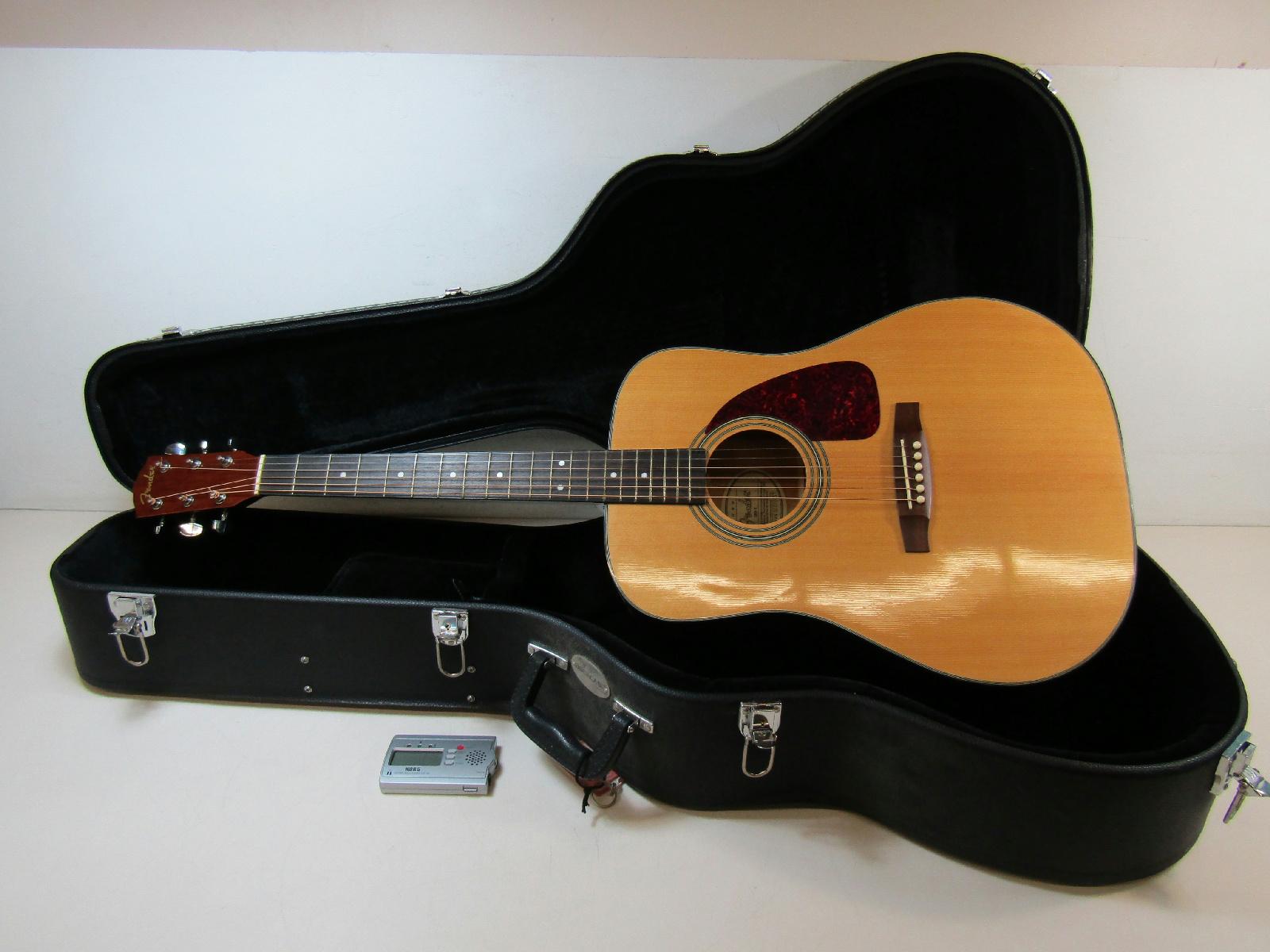 fender dg 7 acoustic guitar right handed w hard shell case ebay. Black Bedroom Furniture Sets. Home Design Ideas
