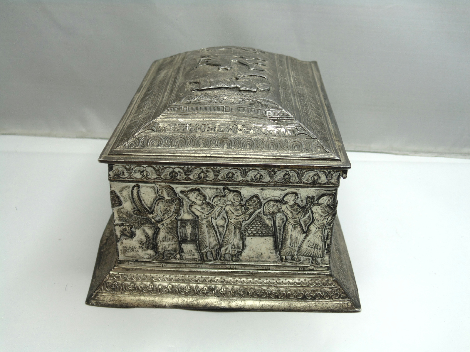 barbour silver plated trinket box dirty small egyptian. Black Bedroom Furniture Sets. Home Design Ideas