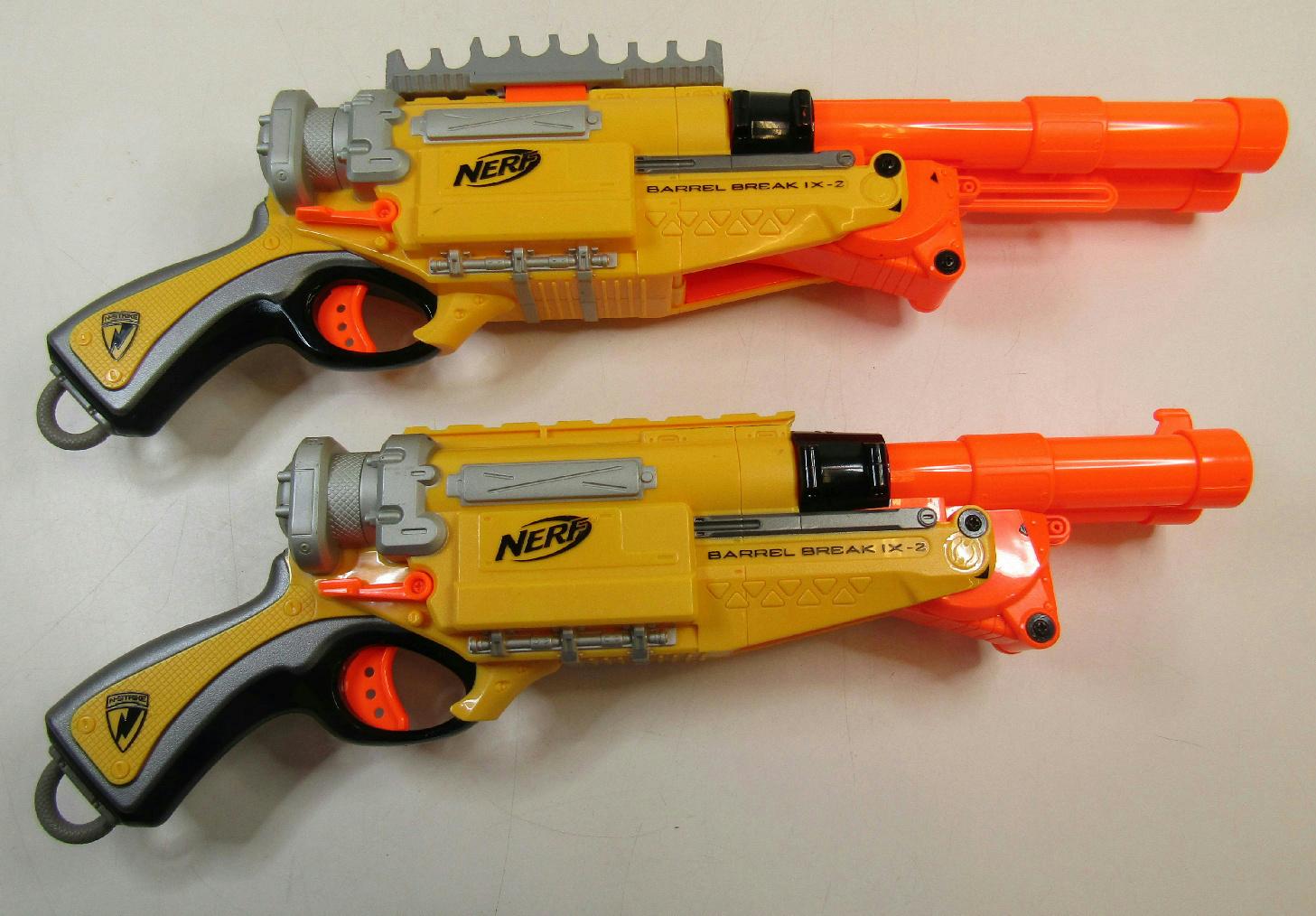 Lot Of 2 Nerf Barrel Break 1X-2 Shotgun Dart Gun N-Strike No Darts   eBay