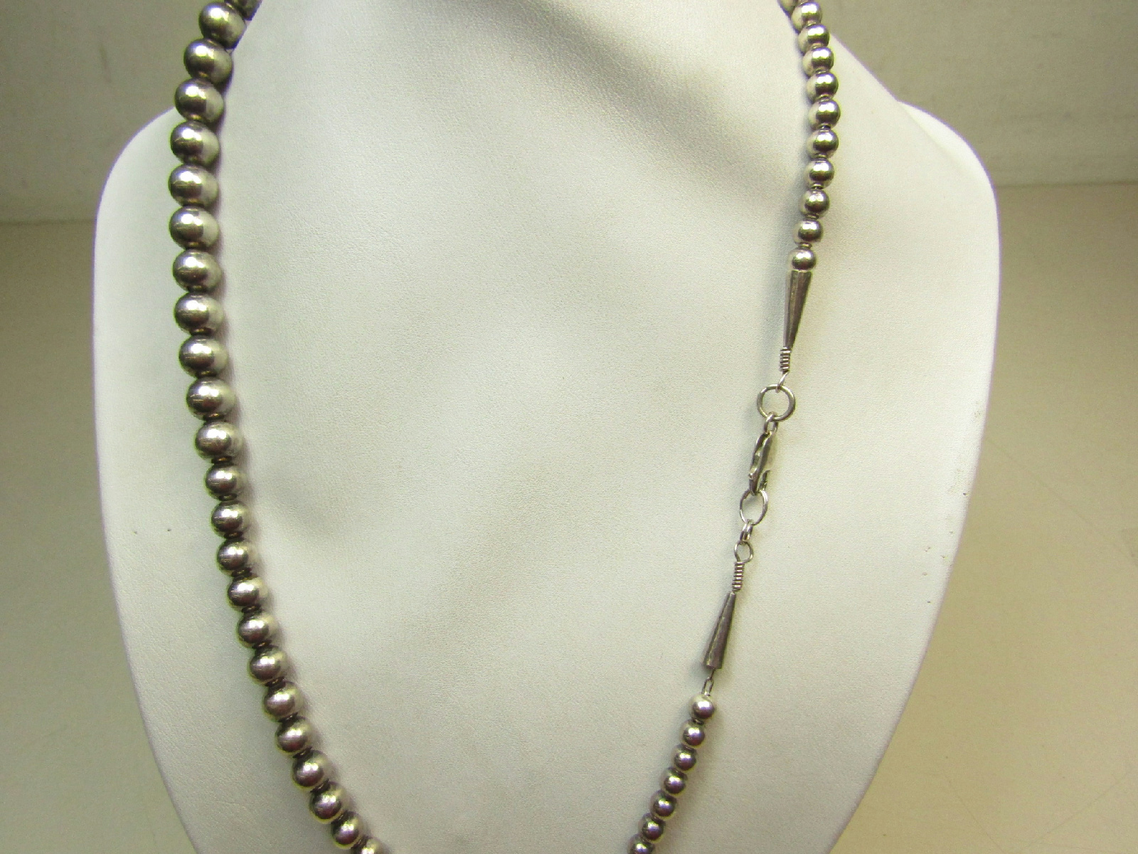 Sterling Silver Jewelry Necklace Graduated Size Beads ...
