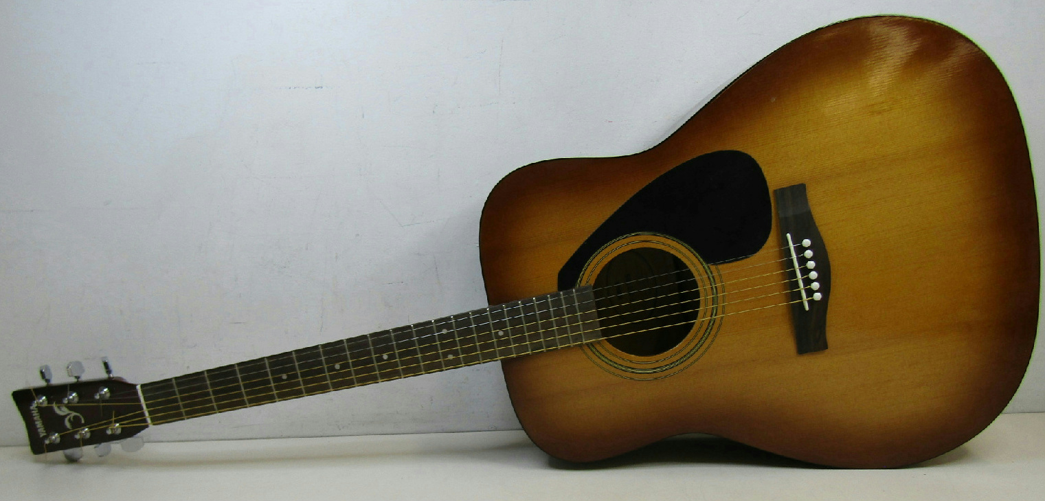 Yamaha f310 acoustic guitar tobacco brown sunburst hard for Yamaha acoustic guitar ebay