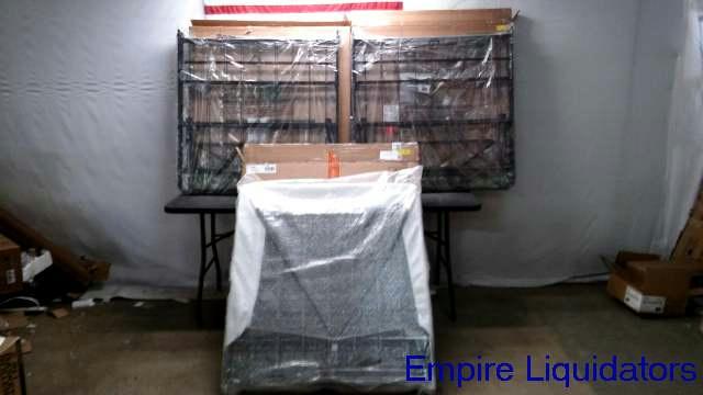 spa sensations 7 5 high bi fold box spring 2 twin base bed frame black ebay. Black Bedroom Furniture Sets. Home Design Ideas