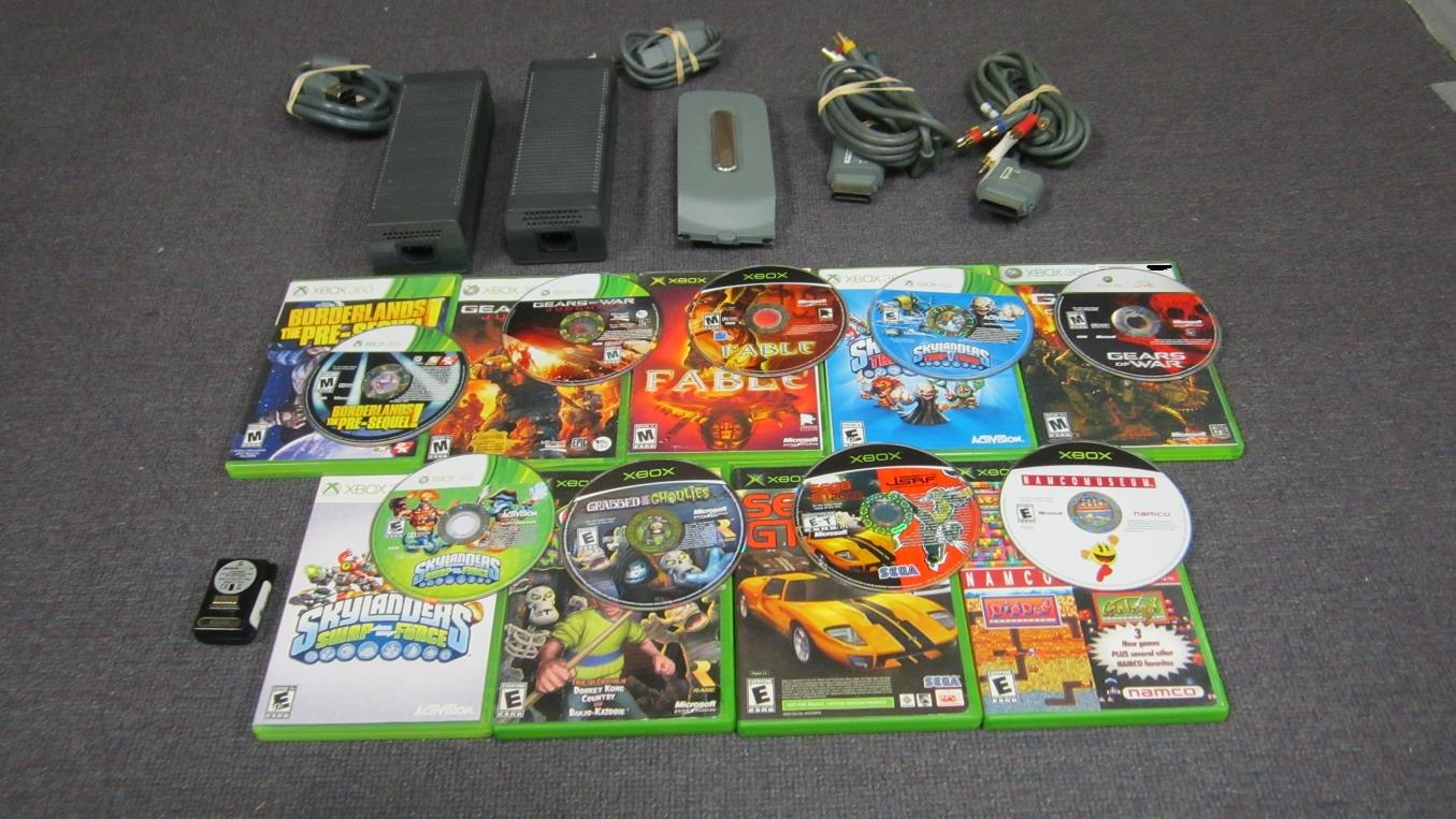 Old Xbox 360 Games : Lot of used original xbox and games