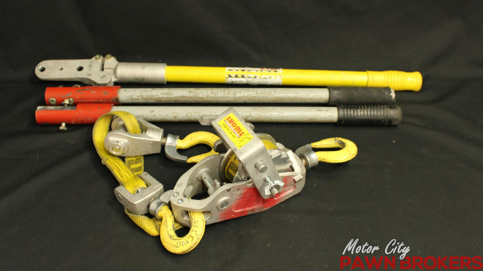 Lug All 1 1 2 Ton Capacity Web Strap Hoist Used For Sale