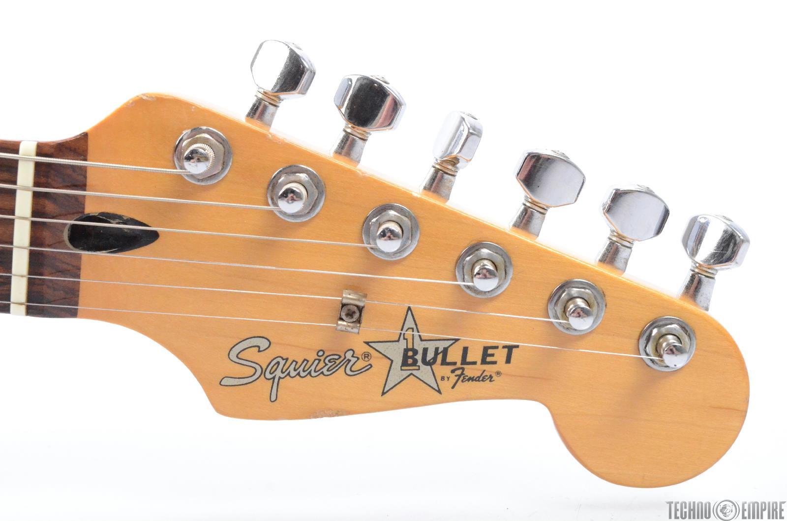 1987 fender squier bullet 1 e7 hss electric guitar w gig bag 27334