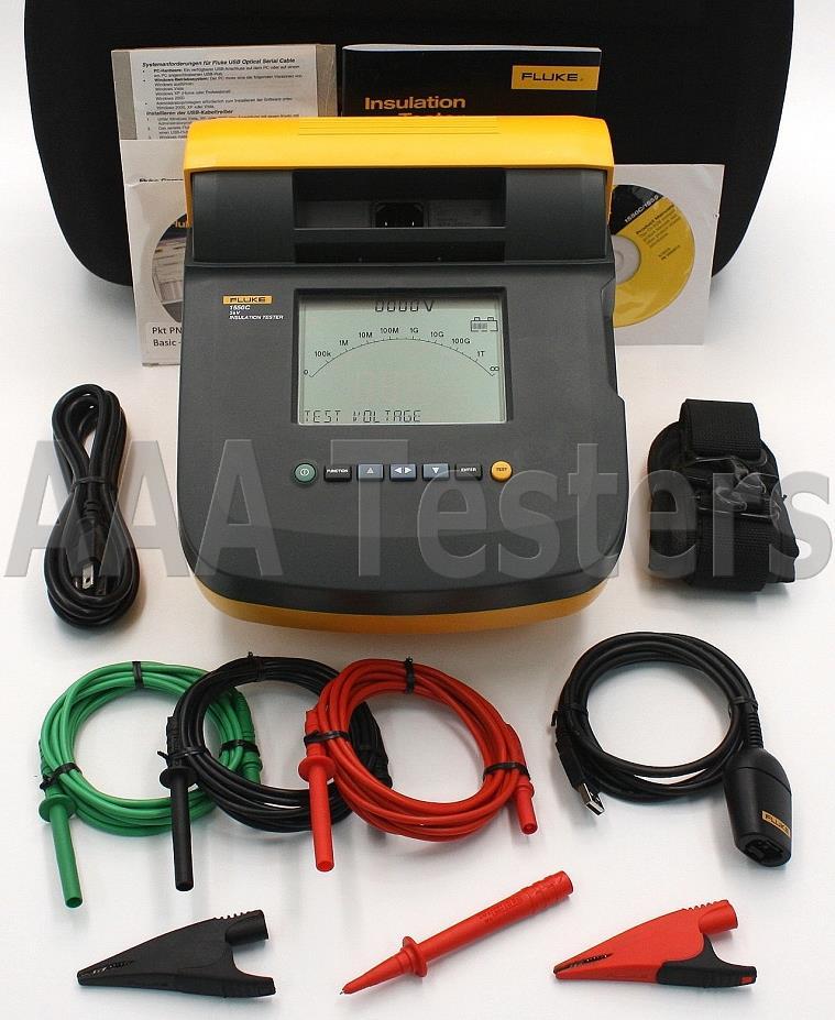 Fluke High Voltage Tester : Fluke c digital megohmmeter high voltage insulation
