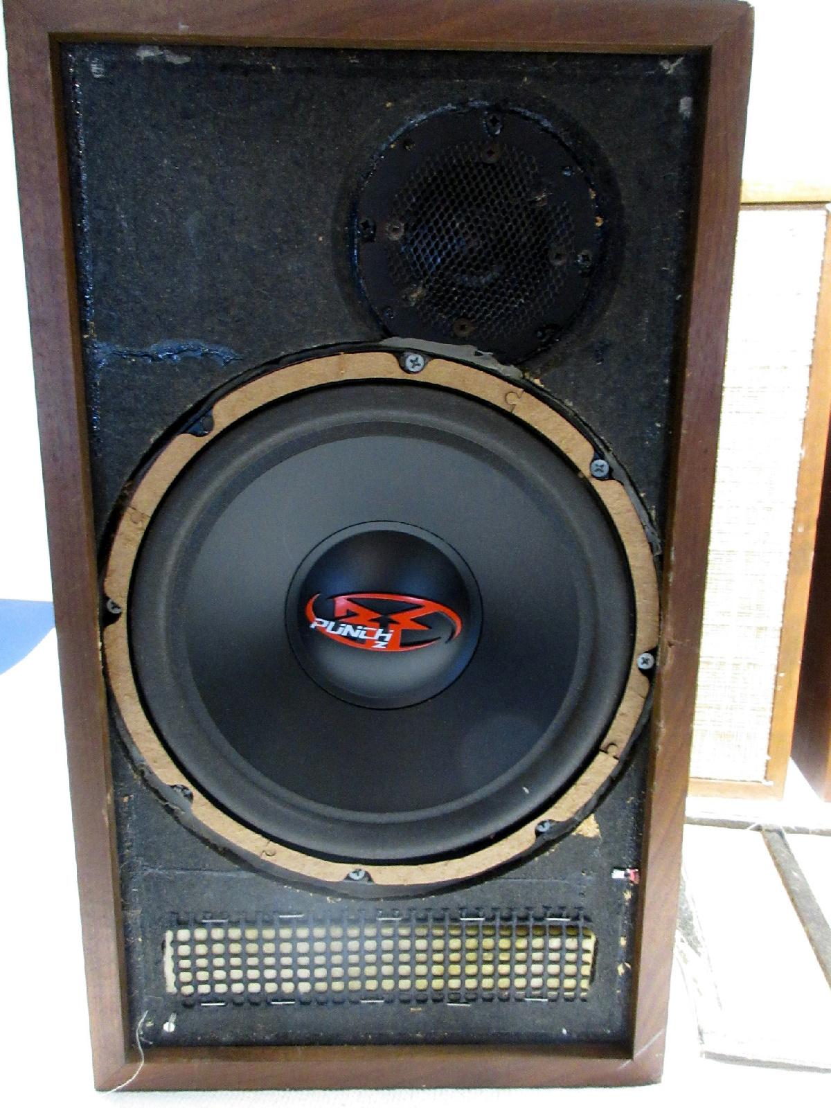 set of 4 custom vintage speaker cabinets w rockford. Black Bedroom Furniture Sets. Home Design Ideas