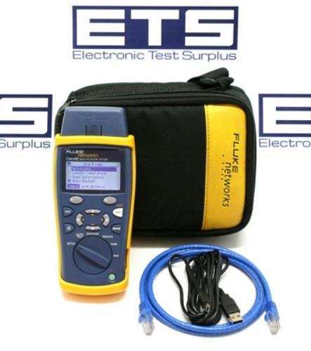 Fluke Cable Tester : Fluke networks cableiq ciq qualification tester cable iq