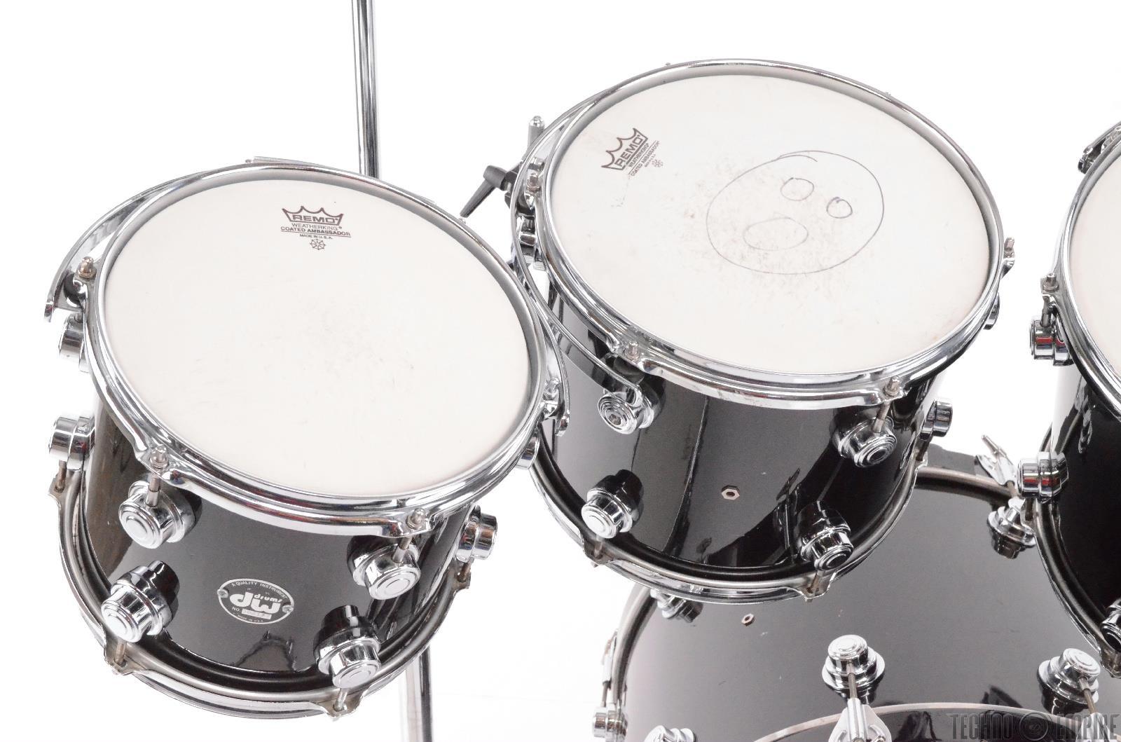DW Collectors Series 6 Piece Black Purple Sparkle Drum Set W Hardware 27691