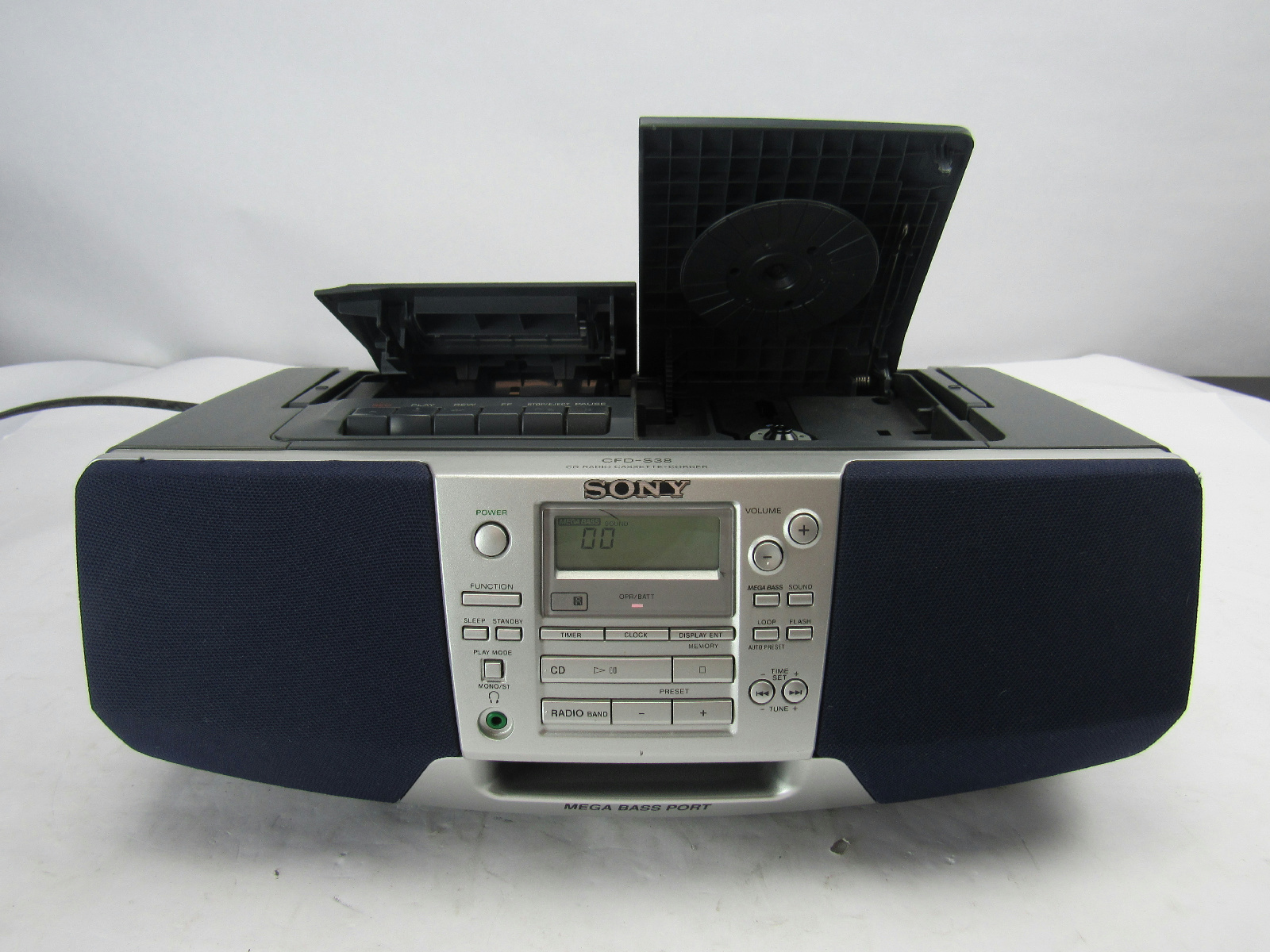 sony cfd s38 cd radio boombox. Black Bedroom Furniture Sets. Home Design Ideas