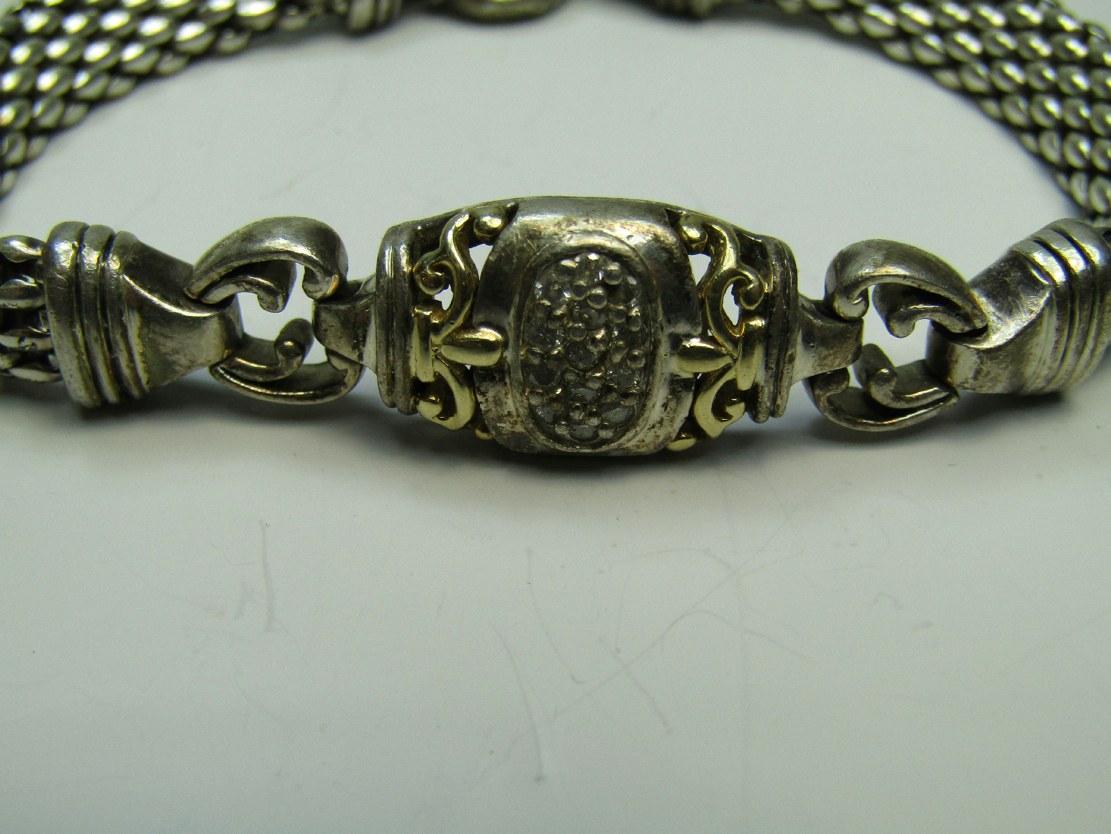 sterling silver jewelry chain link bracelet tested