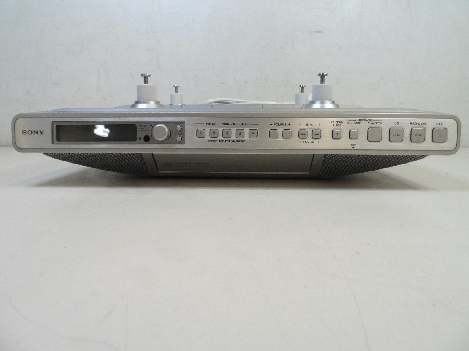 sony kitchen clock radio under cabinet am fm radio cd. Black Bedroom Furniture Sets. Home Design Ideas