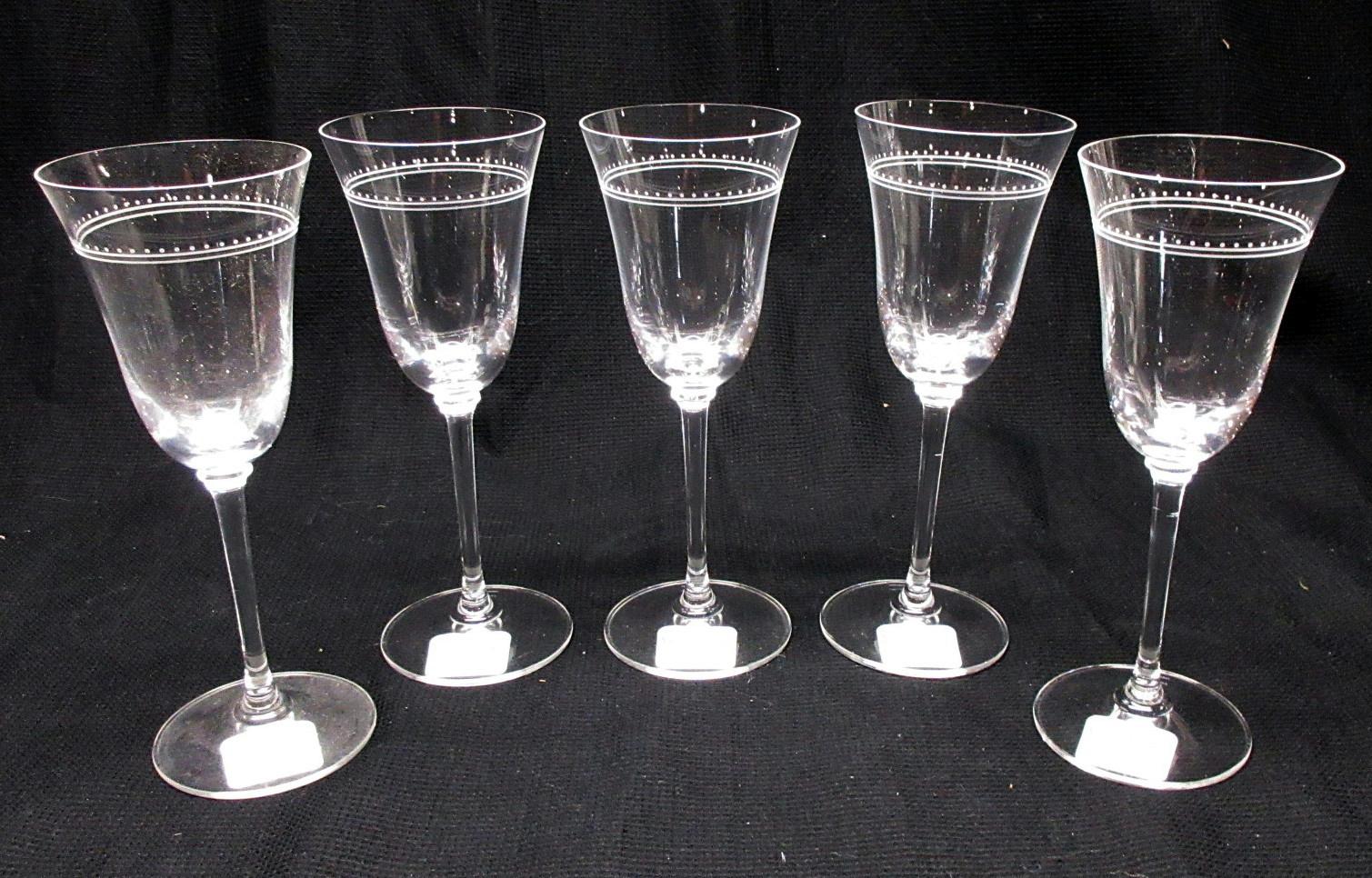 Set Of 5 Vera Wang Wedgwood Crystal Grosgrain Red Wine Water Goblet Glass Ebay