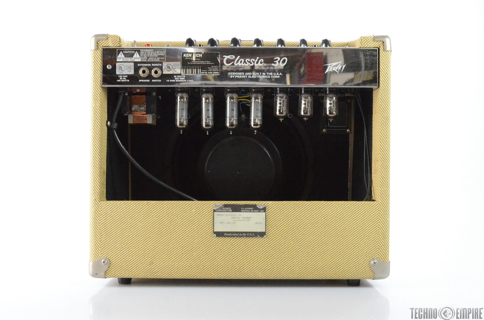 peavey classic 30 1x12 30 watt tweed tube guitar combo amp amplifier 27763. Black Bedroom Furniture Sets. Home Design Ideas