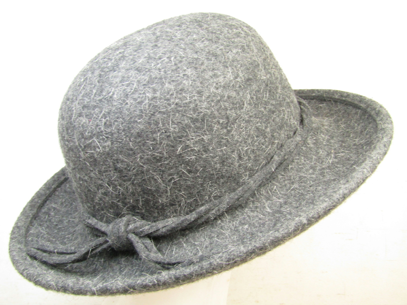 scala womens gray 100 wool felt bowler hat size small ebay
