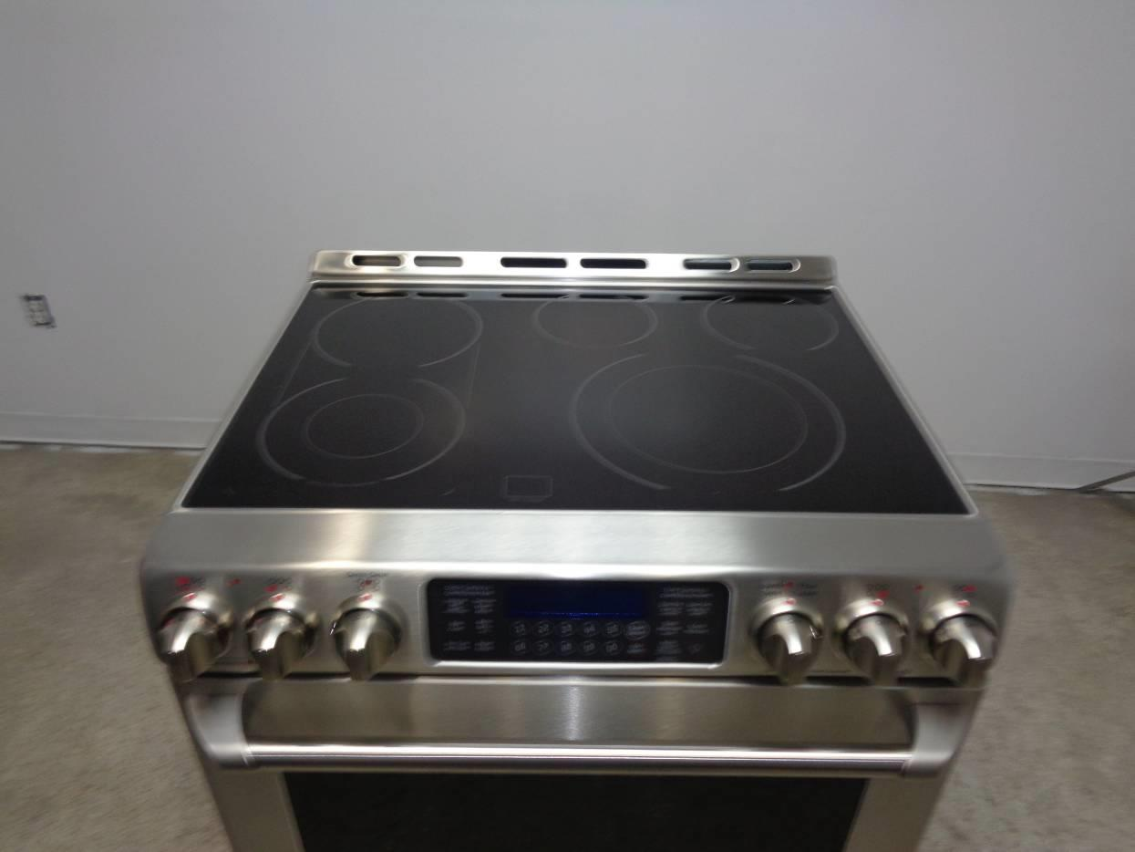 30 Inch Electric Cooktop ~ Ge cafe series cs snss inch freestanding electric