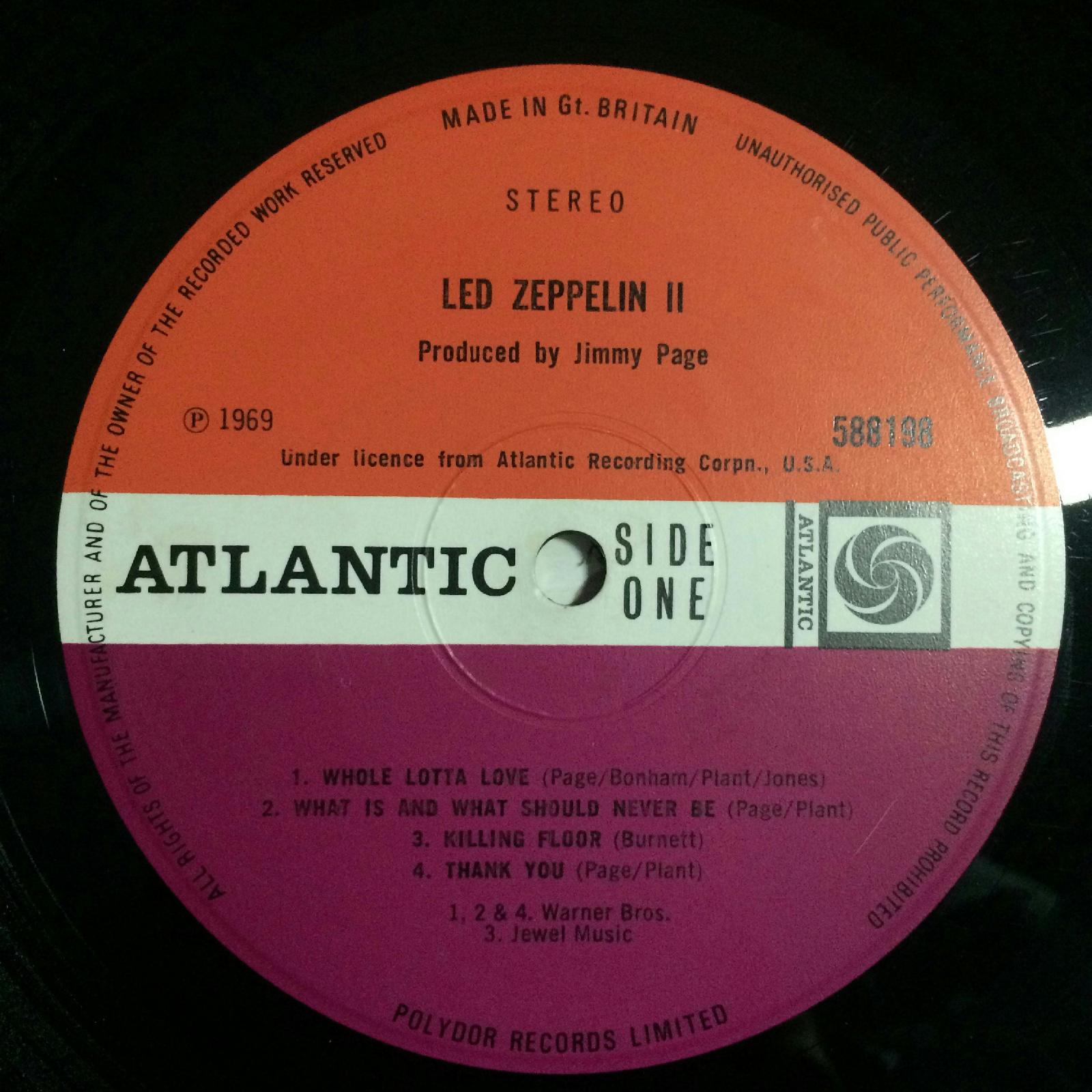 Led Zeppelin Led Zeppelin Ii Lp Vg 588198 Uk 1969