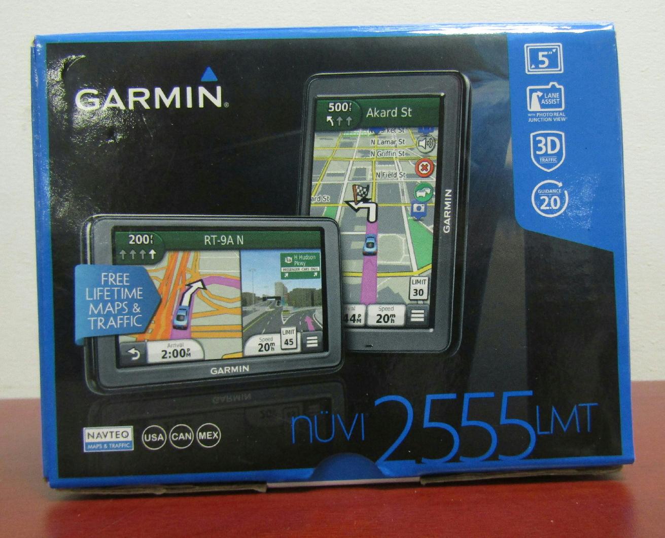 garmin nuvi 2555lmt gps navigation bundle w car charger. Black Bedroom Furniture Sets. Home Design Ideas