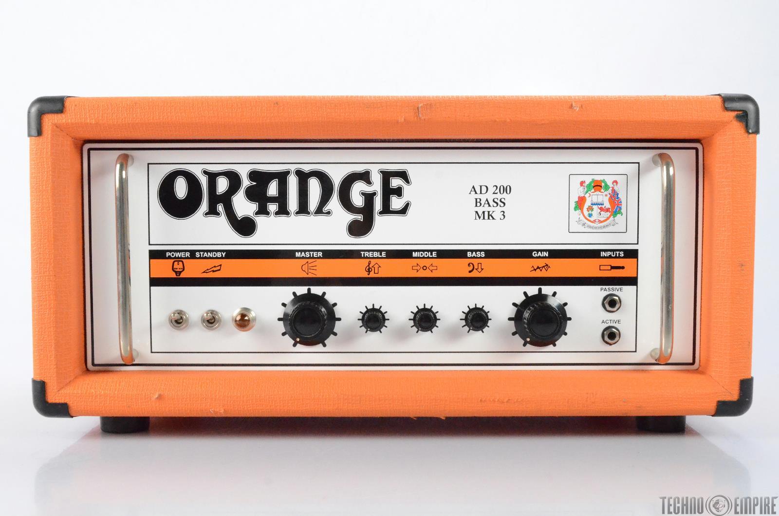 ORANGE AD200 Bass MK3 Amp Head Tube Amplifier #27772