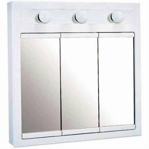 lighted bathroom medicine cabinet design house 532374 concord white gloss lighted medicine 19257