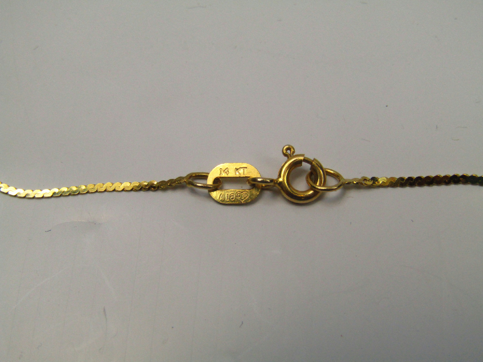 14k Yellow Gold Jewelry Flat Serpentine Chain Necklace 18 ...  14k Yellow Gold...