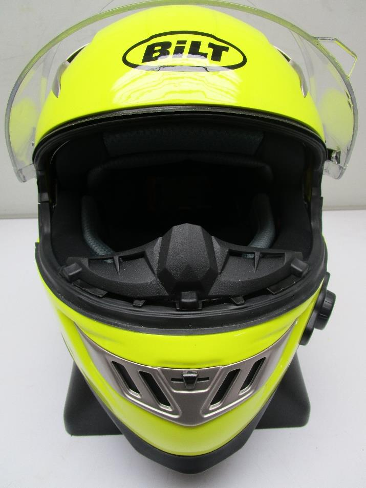 Bilt Techno Bluetooth Full Face Motorcycle Helmet Day Glo