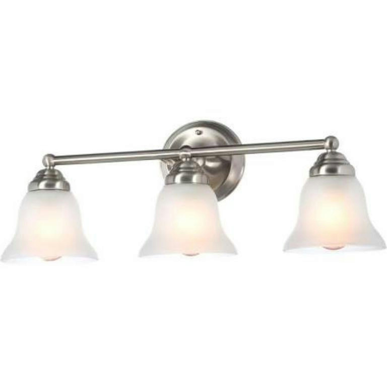 Vanity Light Nuts : Hampton Bay Cade Vanity Fixture Ashhurst Vanity Fixture Globe Solar Path Light eBay