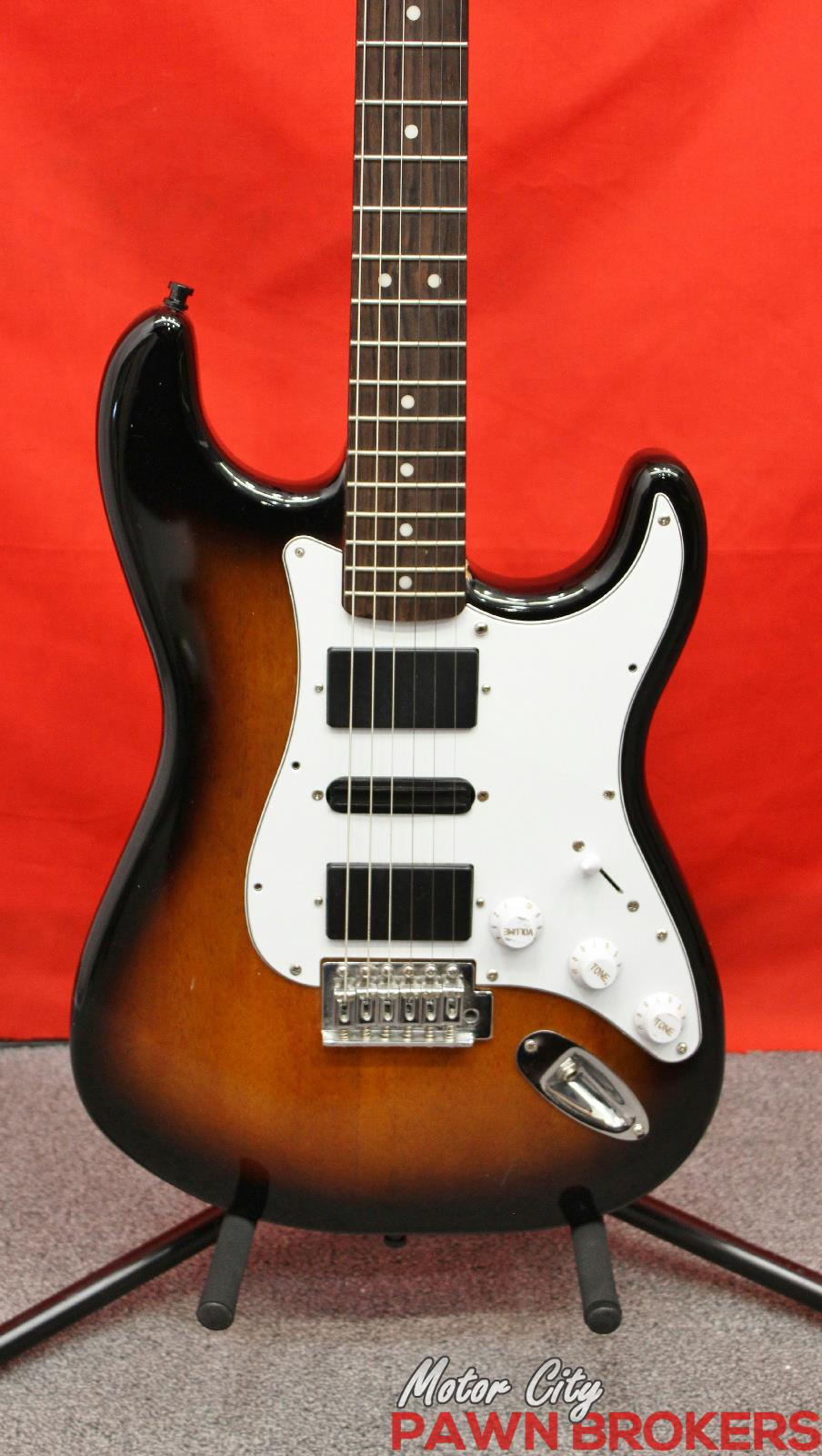parts guitar squier neck epiphone body 6 string electric guitar as is ebay. Black Bedroom Furniture Sets. Home Design Ideas