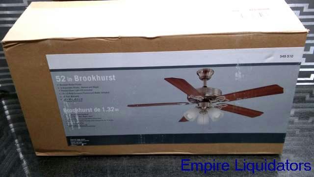 Brookhurst 52 In Indoor Brushed Nickel Ceiling Fan