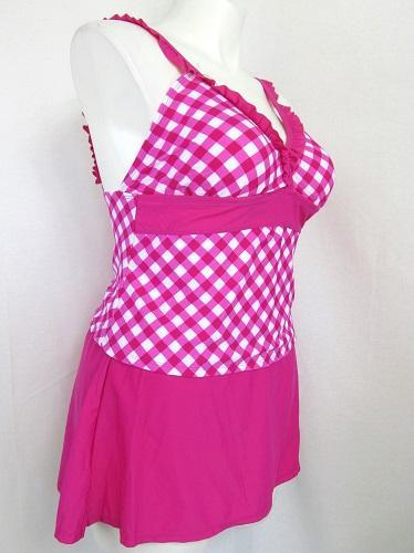 5ee32f6a77 Catalina Women's Size 2X Pretty in Pink Tankini Top w/ Skirt Panty Bottom