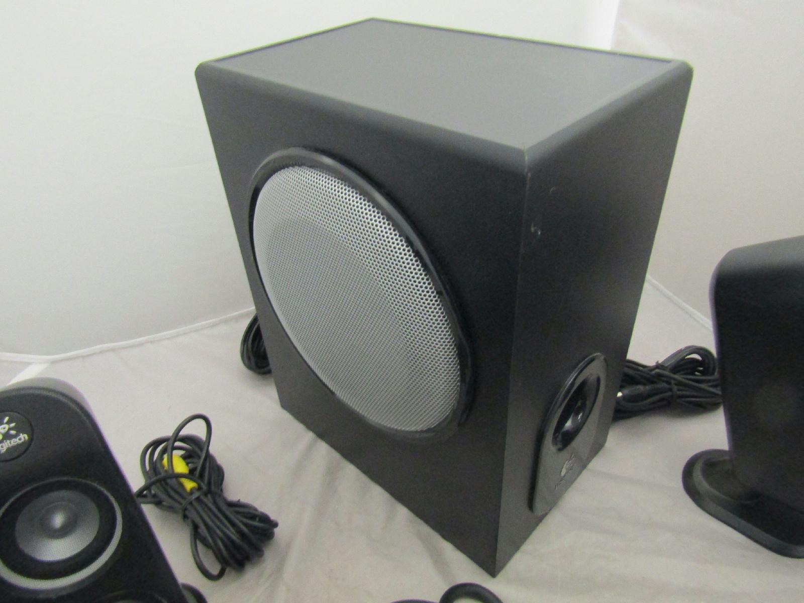 logitech speaker system model x 530 5 1 surround sound. Black Bedroom Furniture Sets. Home Design Ideas