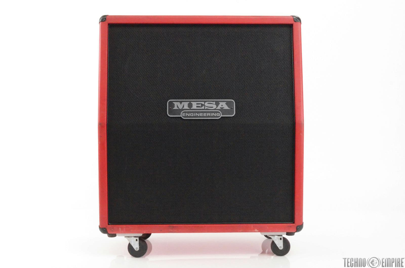 "Mesa Boogie Road King 4x12"" 300W Angled Guitar Amp Cabinet Custom Red #27895"