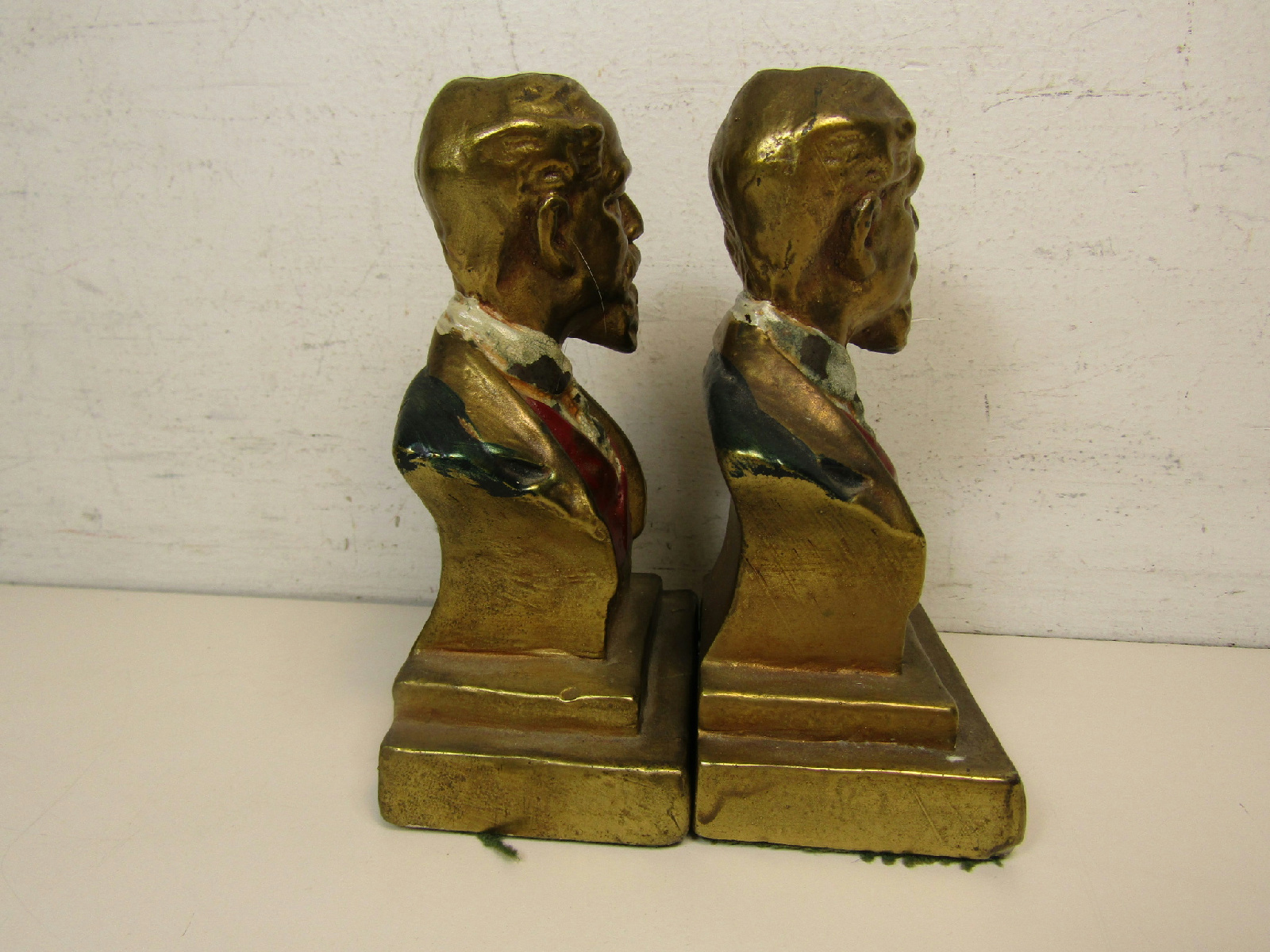 Pair of armor bronze co master craftsmen charles dickens bookends book ends ebay - Armor bronze bookends ...