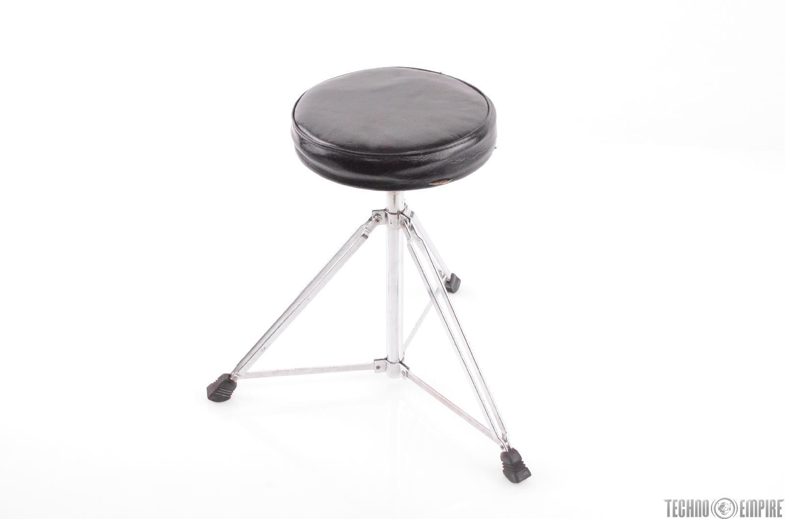 Vintage Rogers Memriloc Black Drum Throne #28119