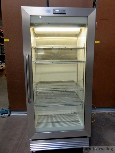 ... Frigidaire FCGM201RFB1 Commercial Stainless Steel Glass Door  Refrigerator