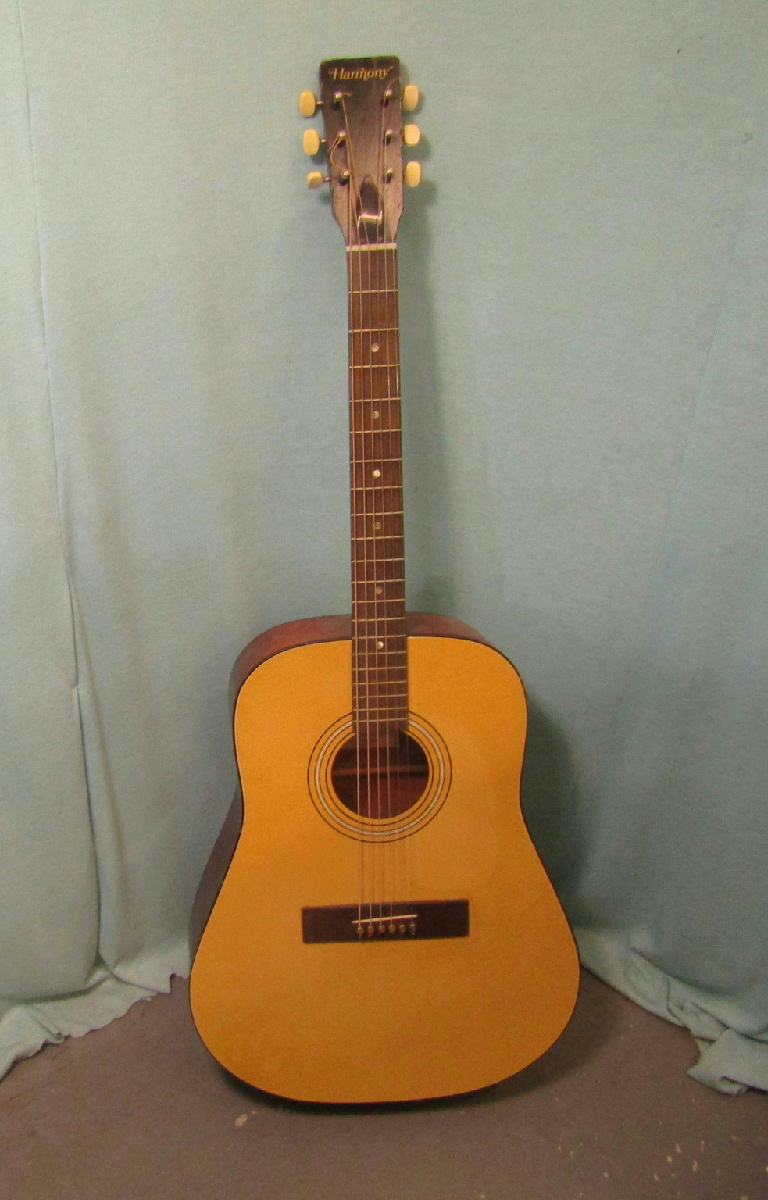 used harmony h165 vintage acoustic guitar made in usa ebay. Black Bedroom Furniture Sets. Home Design Ideas