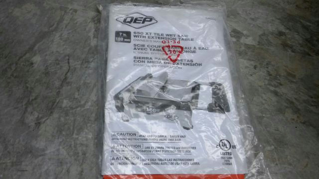 how to use a qep wet saw