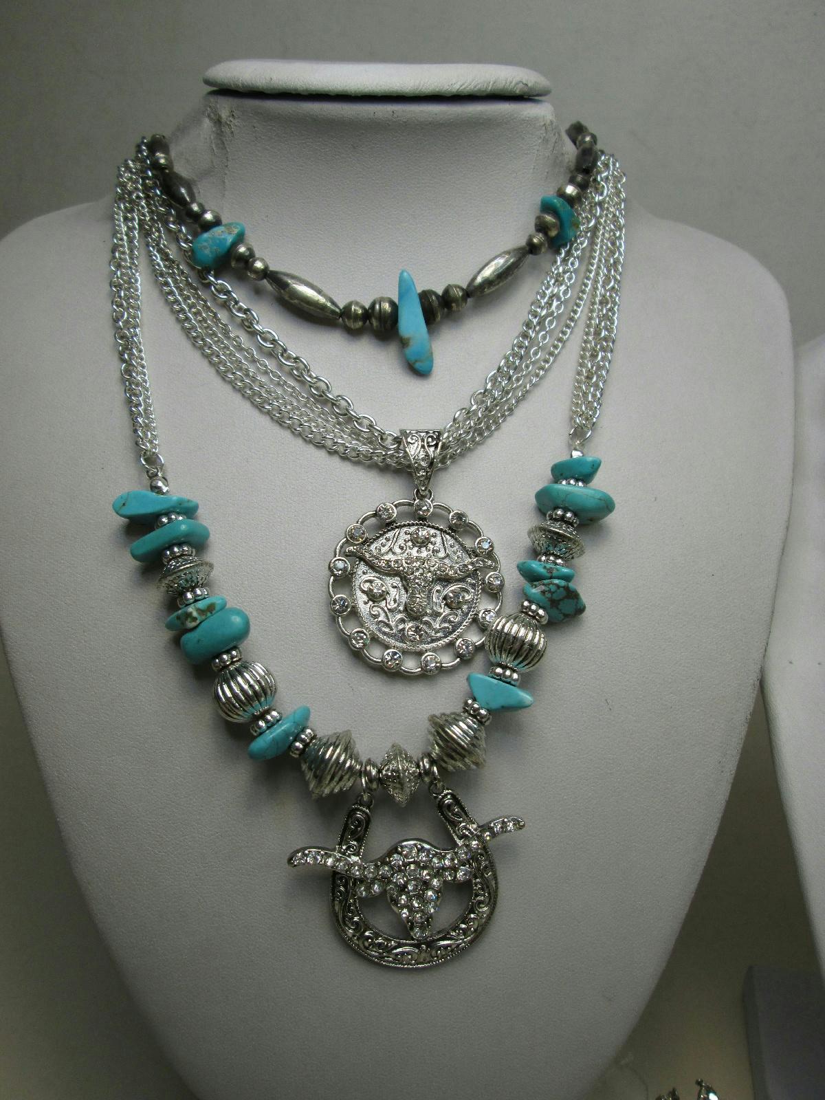 silver tone costume jewelry lot alpaca mexico inlay