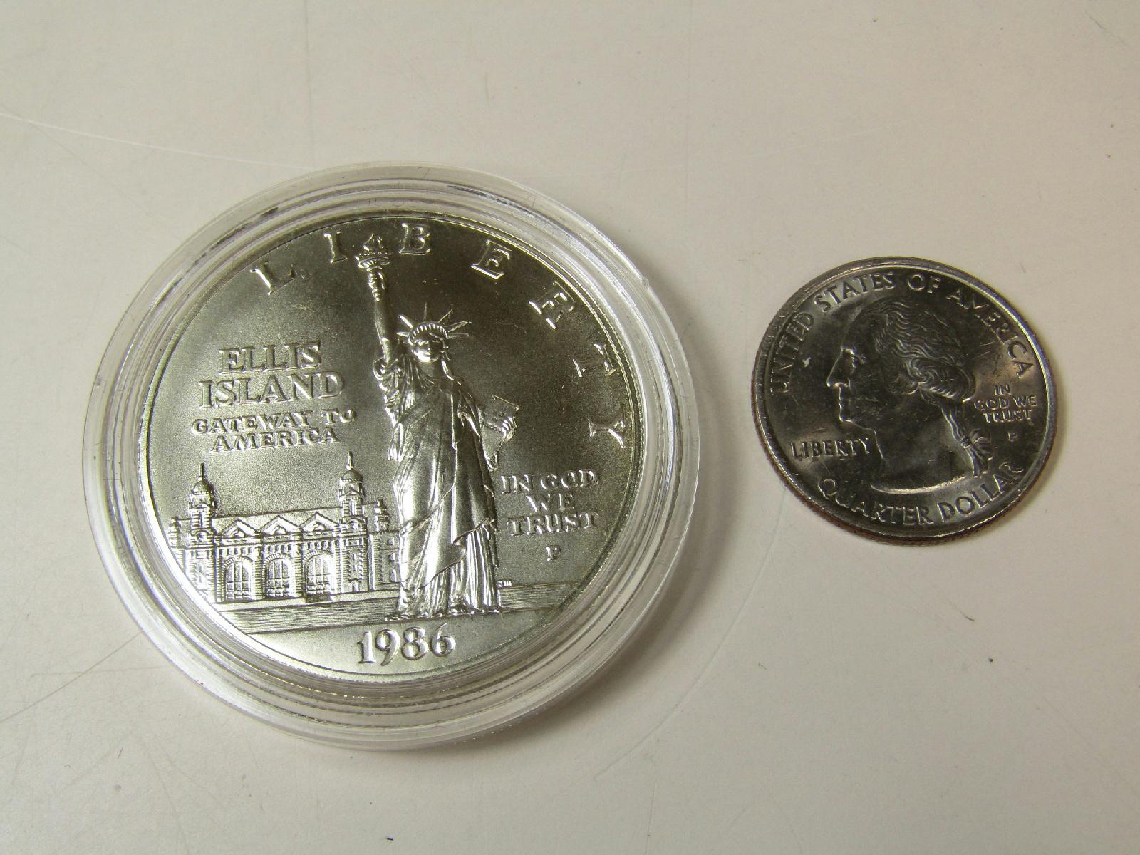 1986 ellis island commemorative coin