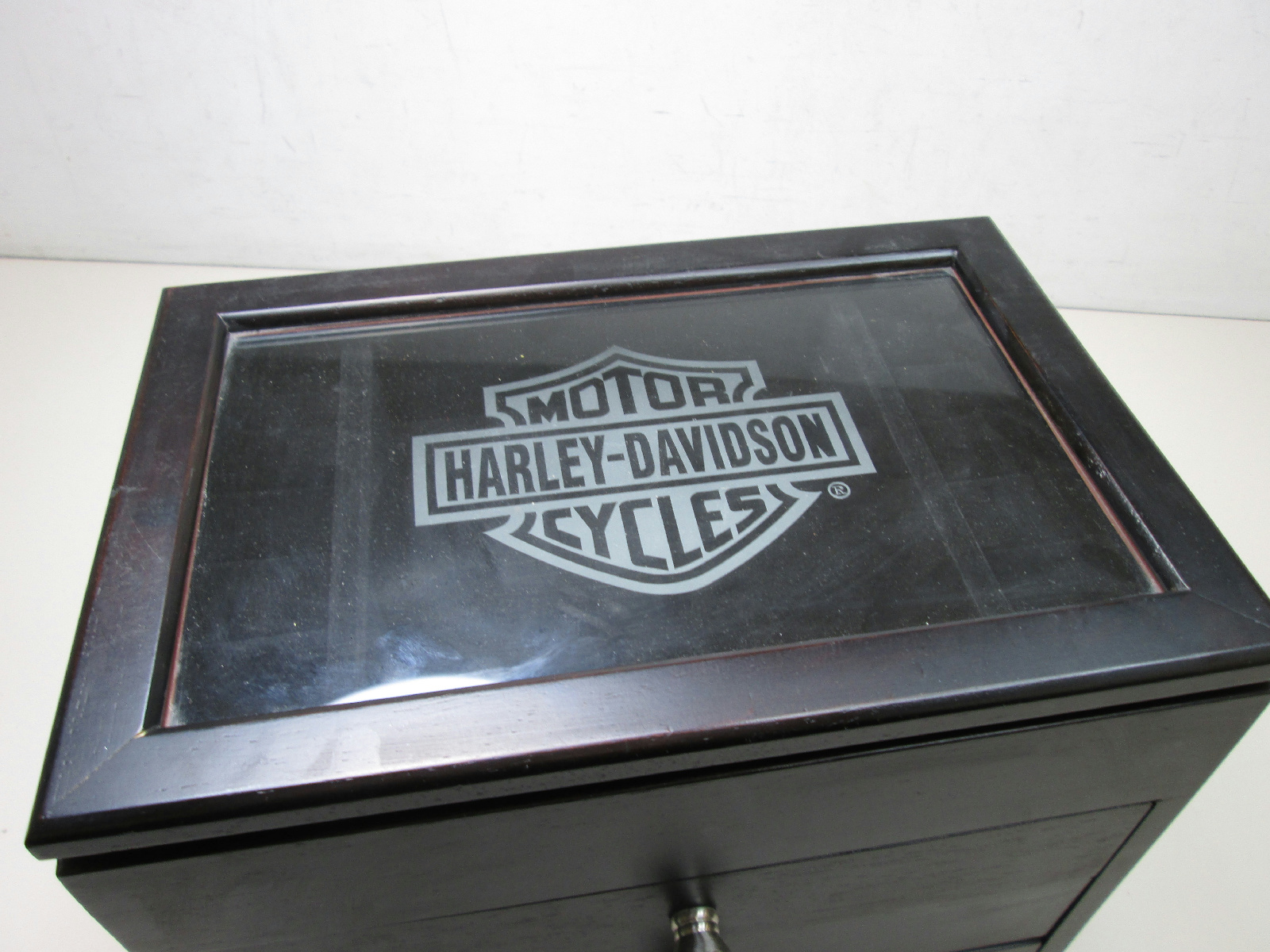 Harley davidson motorcycles wood jewelry box black ebay for Harley davidson jewelry ebay