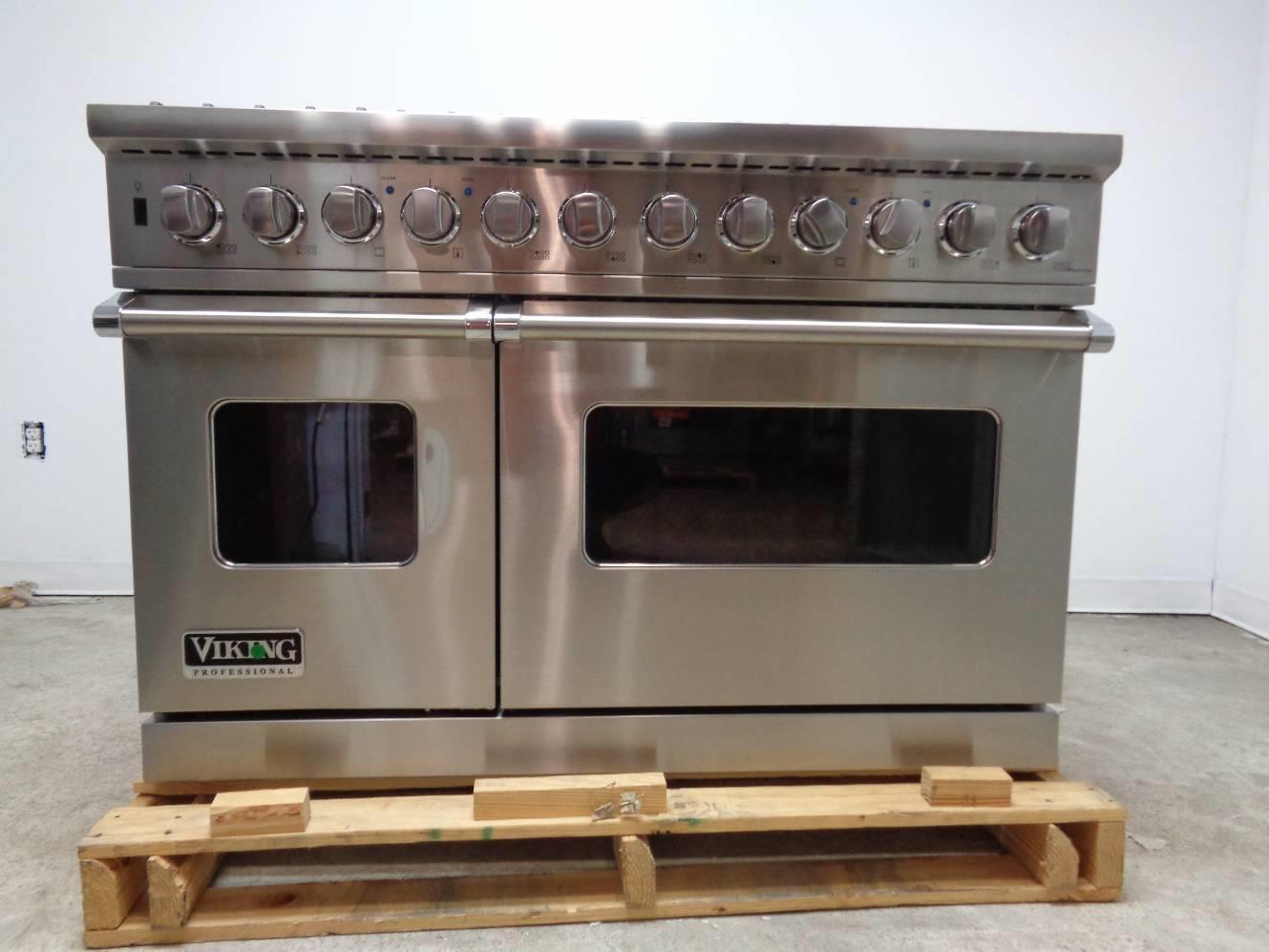 Viking vdsc5488bss professional pro style dual fuel range for Viking 48 dual fuel range