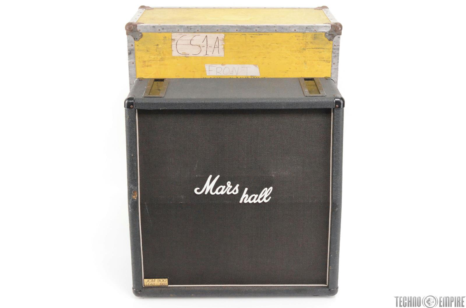 MARSHALL JCM 900 1960A 4X12 Speaker Cabinet W/ Case Owned By Paul Barrere #27769
