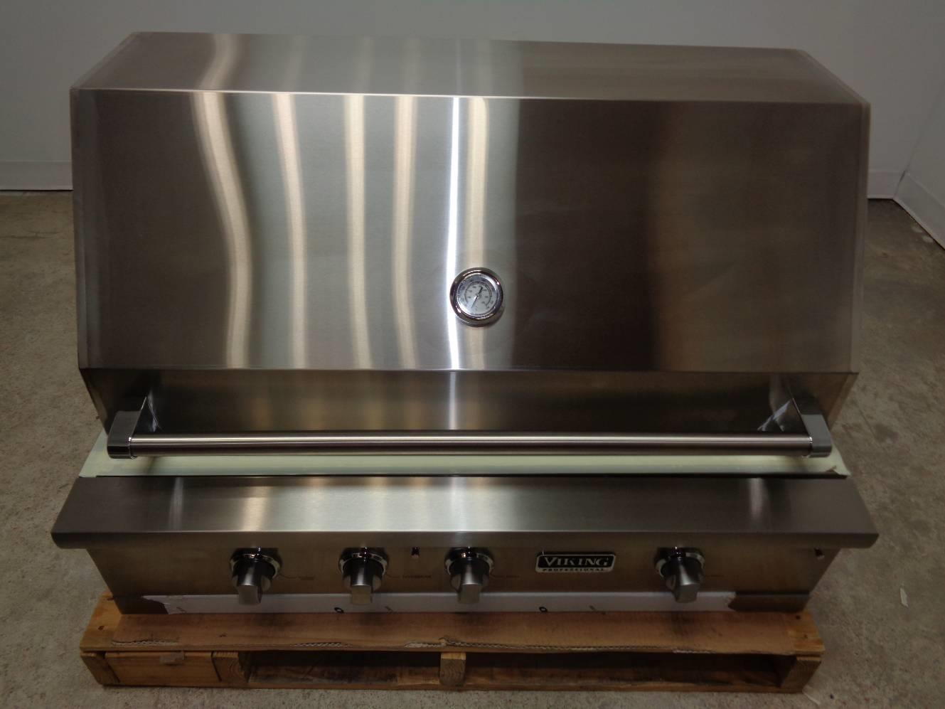 Viking professional 5 series vgiq542241lss 42 built in for Viking built in grill