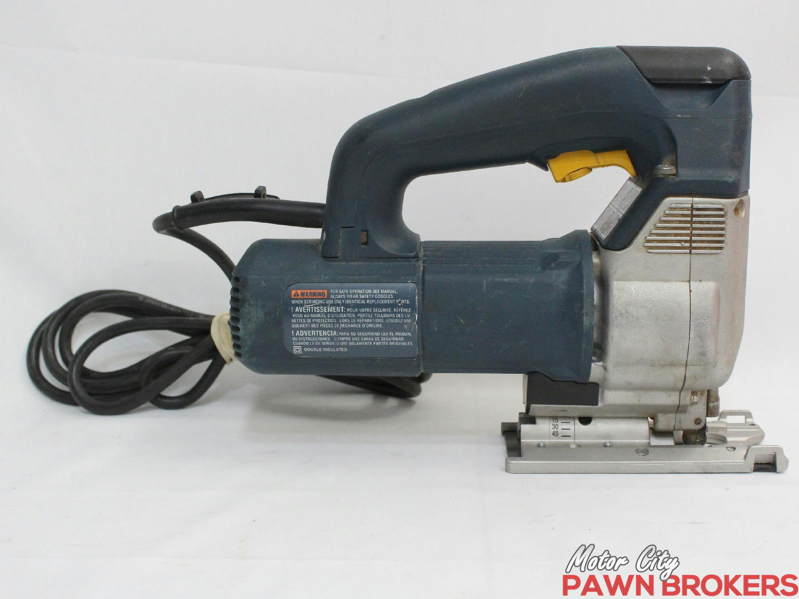 Bosch sds 1587avs top handle corded electric jig for Motor city pawn shop