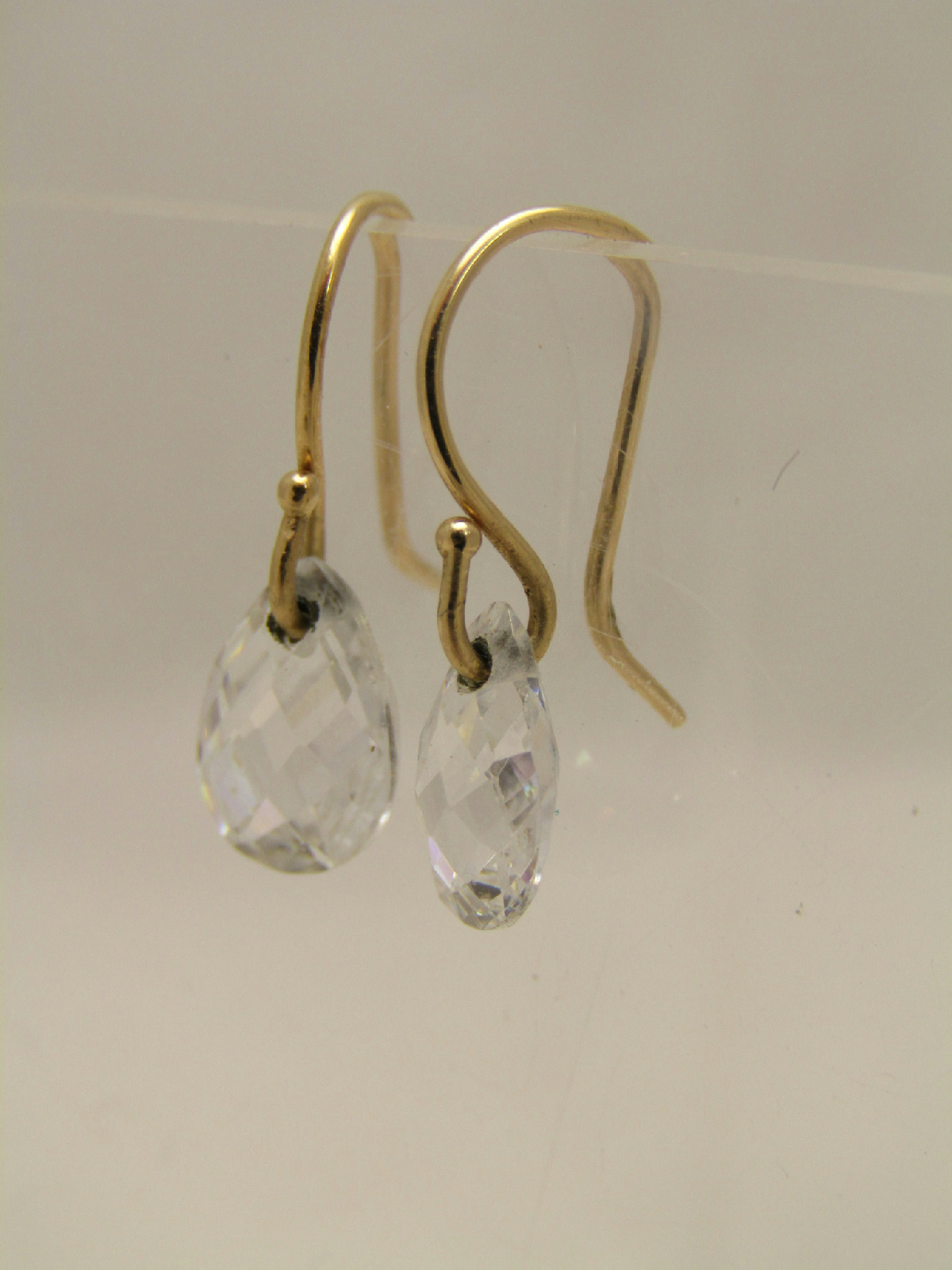 14k yellow gold jewelry faceted sparkle dangle teardrop. Black Bedroom Furniture Sets. Home Design Ideas