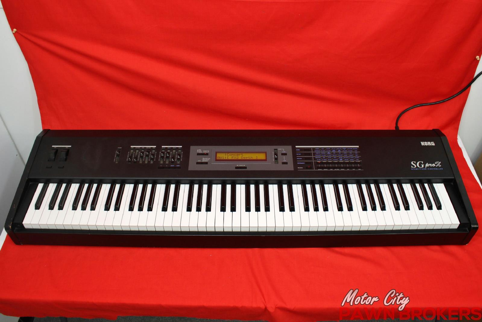 korg sg prox 88 key weighted midi controller keyboard stage piano ebay. Black Bedroom Furniture Sets. Home Design Ideas